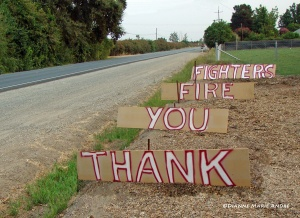 Tim Martinez took the time to make this sign and place it at the edge of his property near the rural area where I live. Thank you, Tim, for sharing and encouraging appreciation for our many heroes.